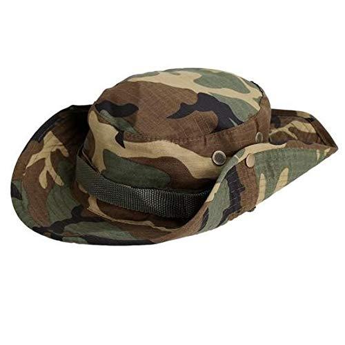 Unbekannt Home Decor Camouflage Military Boonie Hut, robuste Nähte Breiter Krempe Mens & Womens Boonie Hut Camo Eimer Hut für Sport Angeln Strand Camouflage Womens Hut