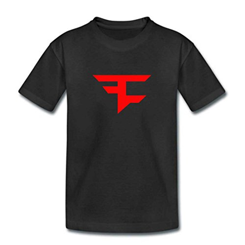 Kids Black FAZE CLAN T Shirt - Childrens Boys Girls