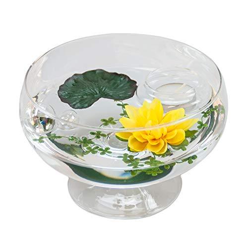 Sandra roxy .11 h 75 cm-diamètre 17 cm (nénuphar décoratif jaune)