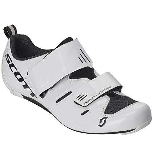 Scott Road Tri Pro Triathlon Fahrrad Schuhe weiß/schwarz 2019: Größe: 45