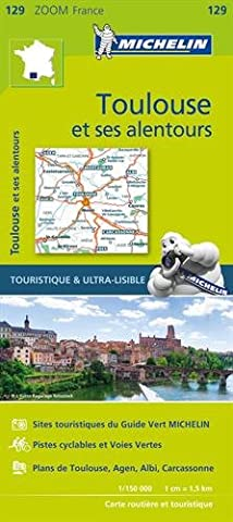 Pyrenees Michelin - Carte Toulouse et ses alentours