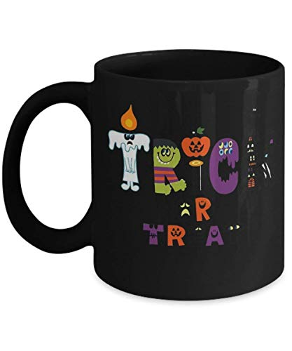 Halloween Trick or Treat Party - Funny Happy Halloween Day Coffee Mug Gift Coffee Cup Mugs - Halloween Great Gifts Idea for Men, Women, Kids, Mom, Dad