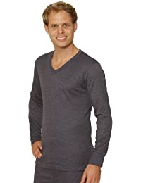 3 PACK: OCTAVE® Mens Thermal Underwear Long Sleeve 'V'-Neck T-Shirt / Vest / Top