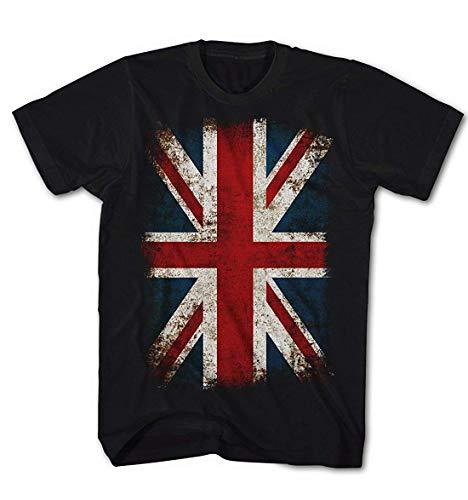 T-Shirt Union Jack Flagge Vintage Grunge Rock Stil England Kult - Retro-punk-rock-shirt