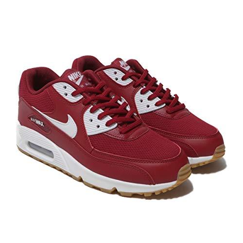 Air Max Tennis Shoes (Nike Damen WMNS Air Max 90 Laufschuhe Mehrfarbig (Red Crush Gum Light Brown/White 613), 38 EU)