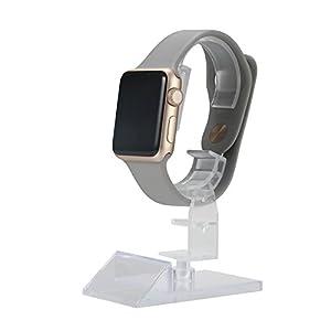 20 Profi Uhrenständer aus Acryl – Uhrenhalter für Vitrine | Drehbar und Verstellbar | Aufbewahrung für Schwere Uhr