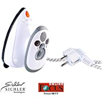 Handy travel steam iron for Travels, 230 V and 120 V with voltage switch by Sichler