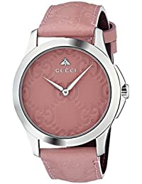 Gucci Womens Analogue Classic Quartz Watch with Leather Strap YA1264030