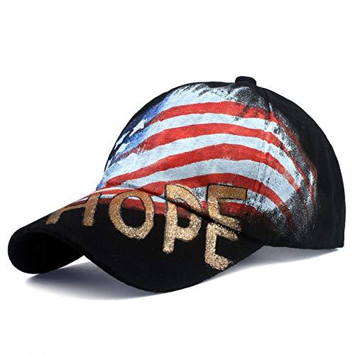 SYQY Baseballmütze Marken-Baseballmützen Qualitäts-Kappe mit Buchstabe-Malerei-Baseballmütze-beiläufigem Hut,C1