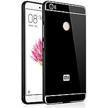 PREVOA ® 丨Xiaomi Mi Max Funda - Metal Frame Funda Cover Case Protictive Carcasa para Xiaomi Mi Max - 6.44 pulgadas Smartphone - Negro