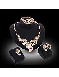 GYJUN Collier / Boucles d'Oreille / Bracelet / Bague (Plaqué Or / Alliage / Zircon Cubique) Mignon / Soirée pour Femme