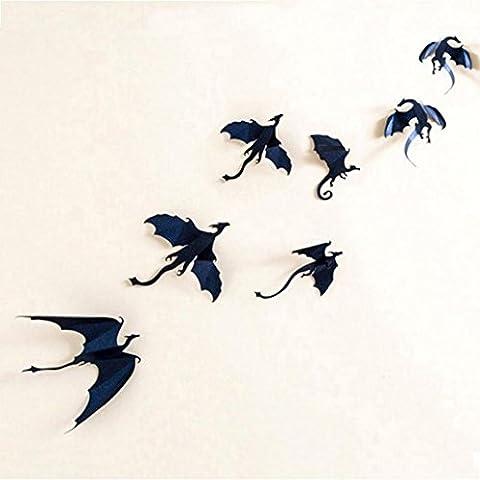 Halloween Oyedens 7pcs / Set 3D Drache Gotische Tapete Halloween Dekorationaufkleber