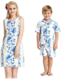 Hecho en Hawaii Conjunto de Camisa de Vestir de Hijo de Madre Conjunto de cabaña en