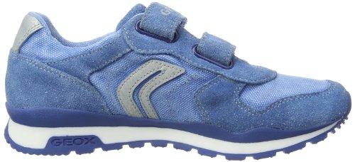 Geox J PAVEL E J4215ES1022C Jungen Sneaker Blau (AVIO/SILVER C4138)