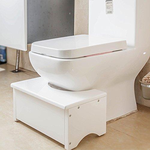 HYP-Ergonomische Toilettenhocker Toilettenhocker ErwachseneFüße wc Sitzbank Hocker Fußbank wc Hocker pad Füße Schemel anti-Verstopfung nach schwangere Frauen Kinder Badezimmer Badezimmer?white