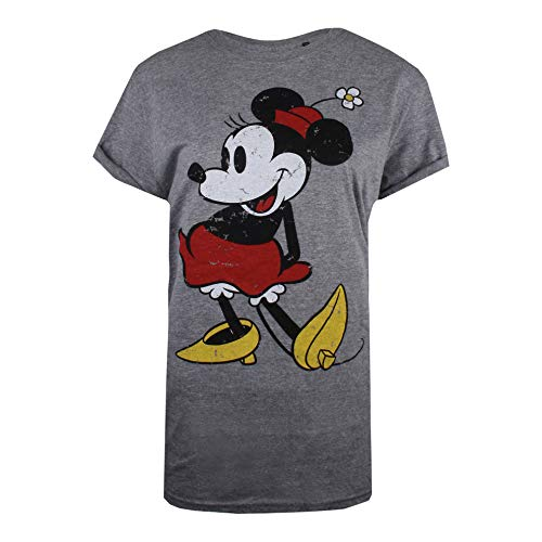 (Disney Damen T-Shirt Mickey Mouse-Classic 90th, Grau (Graphite Heather Grh), 40 (Herstellergröße: Large))