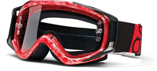 SMITH OPTICS Brille Fuel v2 Sweat X rot-silber Team MX DH Motocross Goggle