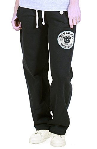 university-of-whatever-womens-heavyweight-varsity-jogging-pants-cuffed-joggers-black-m-fr601