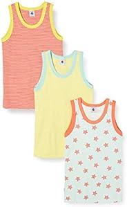 Petit Bateau Camiseta sin Mangas, Paquete de 3 para Niños