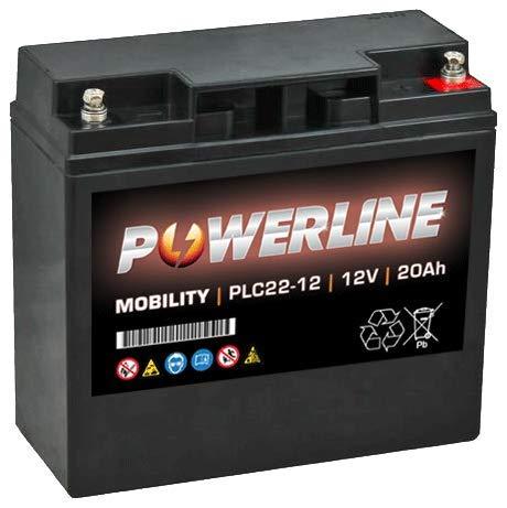 PLC22-12 Powerline Mobility Batteria 12V 20Ah