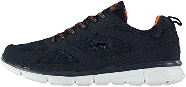 slazenger zèle fitness training chaussures tennis hommes formateurs tennis chaussures marine / orange sport 4e694b
