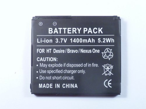 Akku für HTC Desire , Bravo, Dragon, One , BA S410 ,...