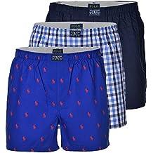 bcd3dbb85c94 Polo Ralph Lauren Homme Boxershort Paquet de 3 - Coton, Bleu