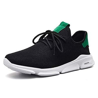 outlet store b542e d16f2 BUCADIA Men' S Mesh Savar Black White Running Sports Walking Casual  Sneakers Shoes Gym Shoe