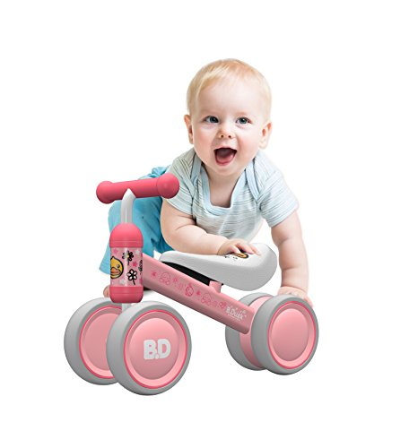 YGJT Baby Balance Bike Bicycle Baby walker Toys for 1Year Old Boys/Girls 10 Months-24 Months Baby's First Bike Birthday Gift Choice Pink Duck