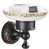 KTMK Kupfer Badezimmer Hardware Sets Schwarz Bad Zubehör Handtuchhalter Kleiderhaken Toilettenbürstenhalter Zahnbürstenhalter, Seifenschale