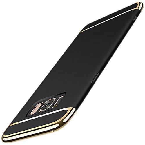 Toppix für Samsung Galaxy S8+/S8 Plus Hülle, 3-Teilige Handyhülle Hard PC Case Cover mit Bumper Dünn Leicht Handy Schutz-Hülle für S8+/S8 Plus, Schwarz Hard Case Handy Cover