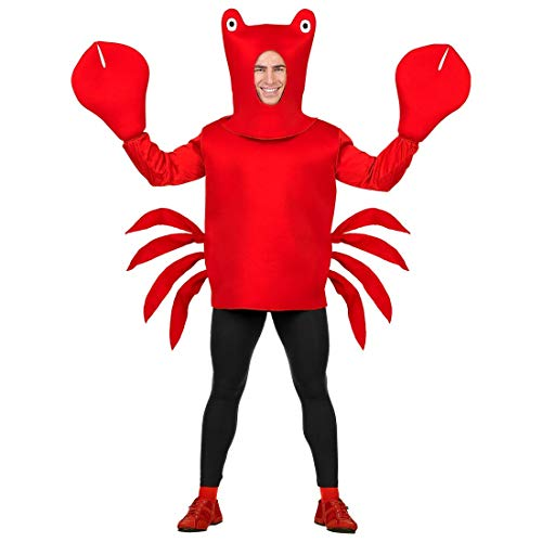 Garnelen Kostüm Kinder - Widmann - Erwachsenenkostüm Krabbe