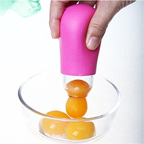 vulna (TM) Práctico DIY Gadget de Cocina de Silicona Succión de color blanco de yemas de huevo Separador Separador Filtro # 62800