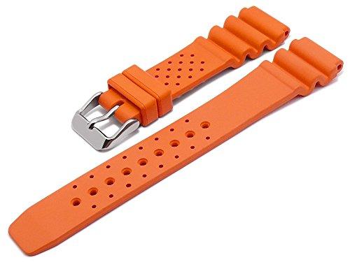 Meyhofer Uhrenarmband Atlantis 20mm orange Kautschuk MyBnskb01/20mm/orange/oN - Atlantis