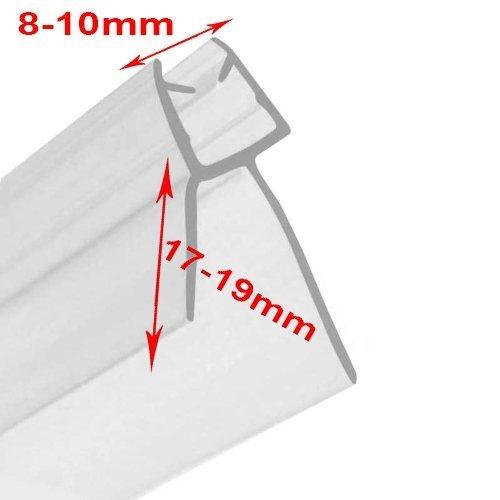 Duschkabinenversiegelung Tür Badezimmer (Glas Dicke 8mm–10mm & Lücke zu versiegeln 17mm–19mm) Flexible Strip 90cm Ersatz-dichtungen Für Die Gläser