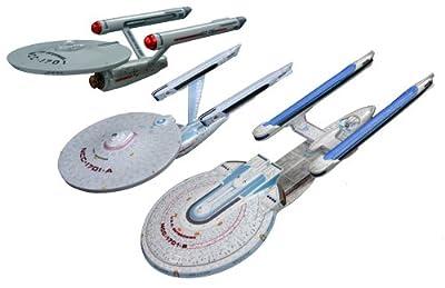 Star Trek Enterprise AMT 660 1:2500 (3er Set: Ncc1701, 1701a, 1701b) von AMT