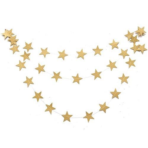 Hosaire Guirlande Bannière Banderole en Papier Étoile Guirlande de Fanions Décor pour Fête de Mariage Anniversaire Or 7f380dec-7331-4b40-a6e6-b204bd48d31b