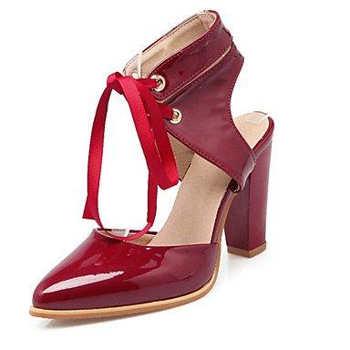 LFNLYX Les talons des femmes Printemps Été Automne Nouveauté confort en cuir de brevet matériaux sur mesure robe de soirée partie & décontracté Talon Red