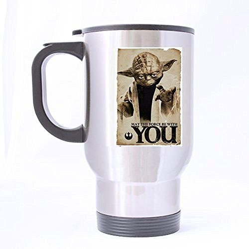 XOX-T Custom star wars yoda Travel Mug coffee cup (sliver) color-1