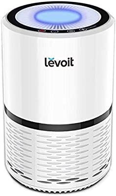 Levoit LV-H132 Air Purifier for Allergies?3-in-1 True HEPA & Active Carbon Filters,3 Speeds Portable Purifiers, Smart Filter Change Reminder, Ideal for Home Bedroom, Pollen, Pet Dander, Smokers