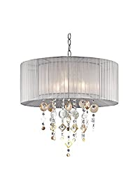 OK Lighting Moon Jewel Ceiling Lamp