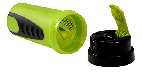IShake Ronie Plastic Sports Shaker Bottle, 600ml (Yellow)