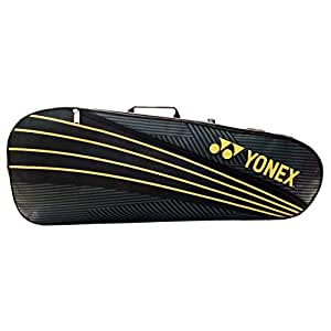 Yonex S25 Extra Spacious 2 in 1 Badminton Kitbag, Black/Gold
