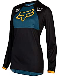4ba2d9f665704 2019 Fox Racing Youth Girls 180 MATA Jersey-Black Navy-YS