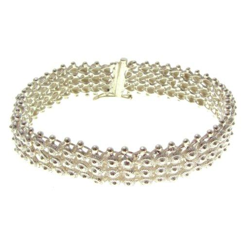 Silver Bracelet Fura Fura 3 Rows