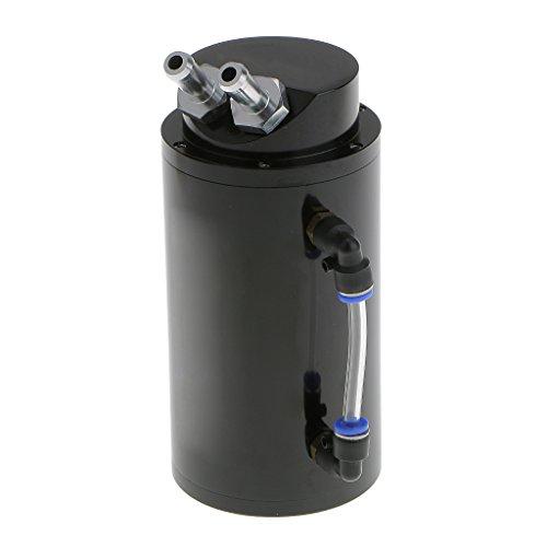 Generic Universale Lega Serbatoio Di Cattura 750ml Serbatoio Dell'olio Rotondo Raccordo - Nero - Tubo Serbatoio Olio