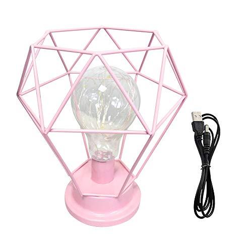 Lámpara de mesa Diamond USB funciona con pilas, luz de noche ...