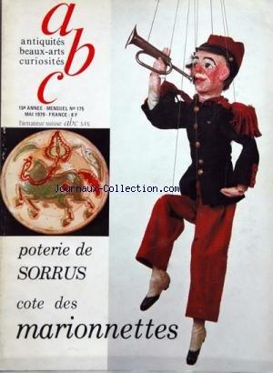ANTIQUITES BEAUX ARTS CURIOSITES [No 175] du 01/05/1979 - poterie de sorrus - cote des marionnettes