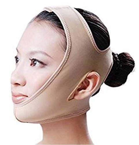 Mascarilla adelgazante facial, V Face Slim Vendaje Correa para el cuidado de la piel Ultra delgada Transpirable para levantar la barbilla y aprieta el cuello flácido