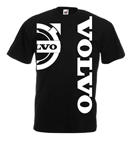 Generico t-Shirt Volvo Logo Camion tir lkv Holland Style Truck Idea Regalo 12 Colori Anche per Bambini(M, Nero)